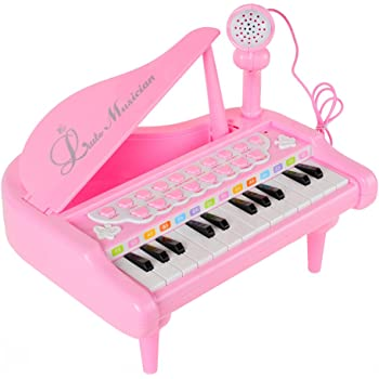 RASTAR 子ども用 電子ミニピアノ おもちゃ 音楽キーボード玩具 (ピンク)