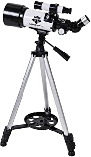 Space Astronomical Refractor Telescope with Adjustable Tripod and Finder Scope, Outdoor Monocular Space Telescope, Educati...