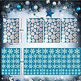 Uni-Fine 252 Piezas Pegatinas Decorativas de Copo para Adorno Pegatinas de Navidad para entanas de Nieve Fiesta Extraíbles Accesorio de Decoración para Navidad Pegatinas de Ventana de Puerta