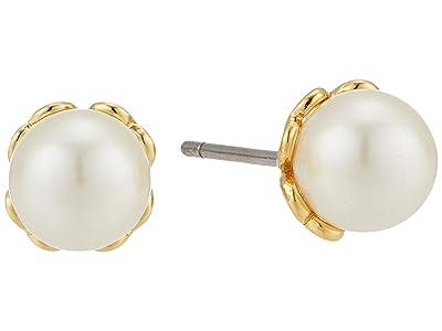 Kate Spade New York Pearlette Mini Pearl Studs Earrings (White) Earring