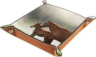 Vockgeng Cheval Boîte de Rangement Panier Organisateur de Bureau Plateau décoratif approprié pour Bureau à Domicile tiroir...