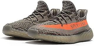 BOOTS35O Men's Breathable Fashion Sneakers Unisex Athletic Shoes (10 M US= EU 44, Grey/Orange)