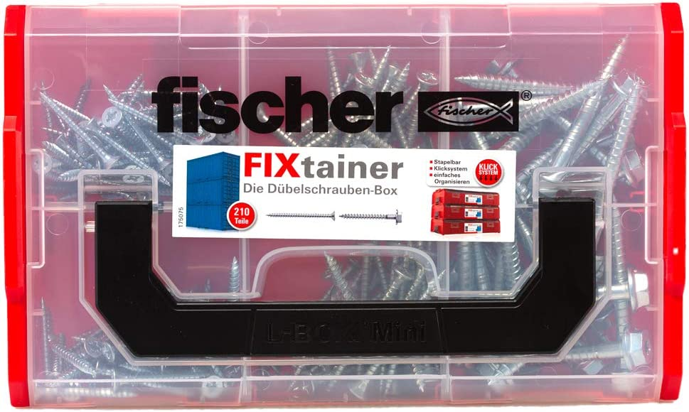 fischer FIXtainer DUOPOWER Bo/îte de 210 vis de fixation universelles pour vis de fixation