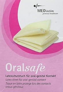 MEDintim - Oralsafe beschermende doek van latex - vanille - 8 stuks (252x155mm)