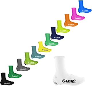 Zimco Lycra Cycling Bicycle Shoe Cover Booties Overshoes Rear Zipper
