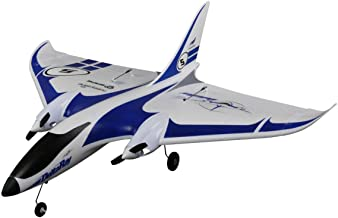 HobbyZone Delta Ray RC Airplane BNF (Transmitter Not Included) with SAFE Technology   1300mAh 2S 7.4V 20C LiPo Battery   Charger (White/Blue), 863mm