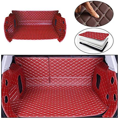 Tuqiang auto kofferbakmatten voor Corolla 14-18 volledig omgeven lederen auto kofferbak matten waterdicht alle weersomstandigheden Cargo Liner beschermhoes rood