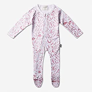 Babyushka Organic Long Sleeve Zip Romper, Pink, 0000