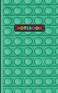 Notebook: Green pop it fidget toy themed for school - lined notebook daily gift / 100 pages, 5 x 8 , soft cover, matte fin...