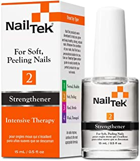 Nail Tek Intensive Therapy 2, Nail Strengthener for Soft and Peeling Nails, 0.5 oz x 1-Pack