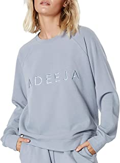 ADEEJA Women Sportswear Essentials Pullover Crewneck Activewear Sweatshirt