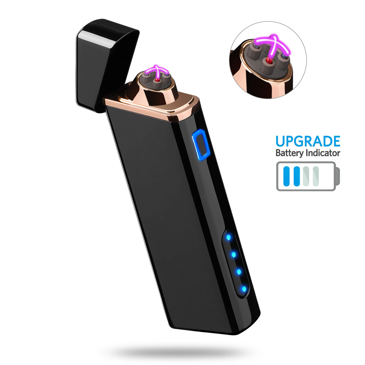 Rechargeable Windproof Flameless Indicator Cigarette