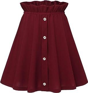 Gardenwed Faldas de Escuela de Tenis para Niñas Mini Faldas con Cintura Alta de Mujer Falda Casual Spandex