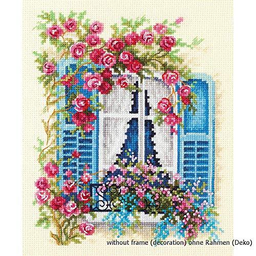 Magic Needle 74-01 - Kit de punto de cruz para ventana (16 x 21 cm, algodón), multicolor
