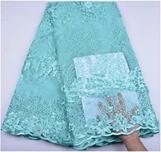 Nigeria Tulle Lace Fabric Embroidery Design 3D Flower Fabric African French Net Lace Fabric A1255 As Picture6