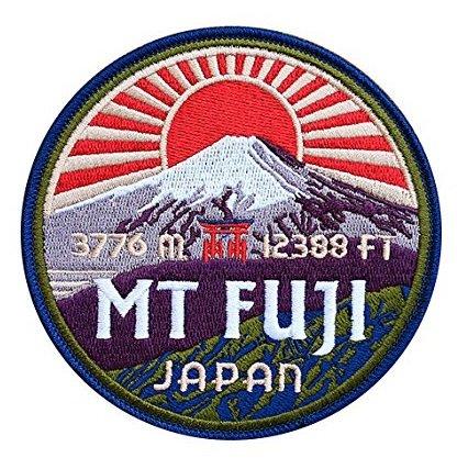 Parche para Montura Fuji Japón, 9 cm, Bordado, para Planchar o Coser, para montañismo, Escalada, Trekking, Bricolaje, Viajes, Trekking, Recuerdo