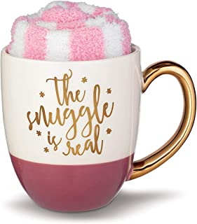 Grasslands Road The Snuggle is Real Mug with Cozy Sock Set