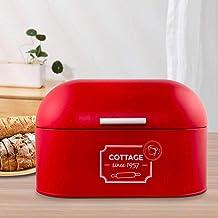 contenedor de lata organizador azul Panera de metal color s/ólido retro de gran capacidad para almacenamiento de alimentos en el hogar