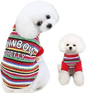 Best dog rainbow sweater Reviews