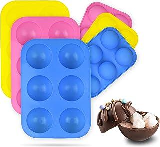 Hot Chocolate Bomb Mold (3PCS) | Baking Mold for Making Hot Chocolate Bombs, Cake, Jelly, Candy, Cocoa balls | Semi Sphere...