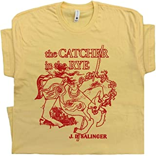 Catcher in The Rye T Shirt Literary Tee Vintage Cool Book Shirts Retro Graphic Literature for Men Women Kids
