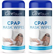 Care Touch CPAP Mask Cleaning Wipes - Unscented | 2 Packs of 70 Unscented Cleaning Wipes for CPAP Masks (140 Total) | Made in The USA