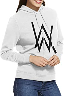 Women's Hooded Sweatshirt No Pockets Alan Walker Unique Original Style White