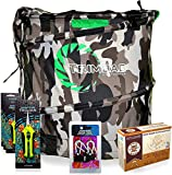 Trimbag CAMO - Complete Dry Trimming Kit Bundle with 4 Common Culture Trimming Scissors, 1 Pair of Ratchet Hangers, 10 Pack of Turkey Bags and Accessories (7 Items)