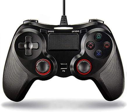 DDQS ゲームパッド PS4 コントローラー HD振動 高耐久ボタン 有線 USB接続 DUALSHOCK 4 Pro/Slim ver6.20対応 PS3 PC対応