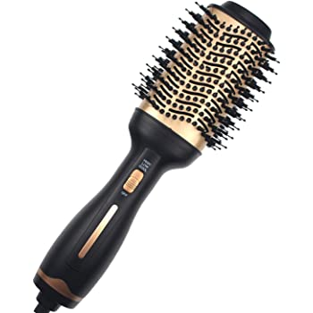 Hot Air Brush ,Hair Dryer Brush, Professional Hair Dryer & Volumizer 3 in 1 Upgrade Anti-Scald Negative Ionic Technology Hair Straightener Brush,Salon Negative Ion Ceramic Electric Blow Dryer