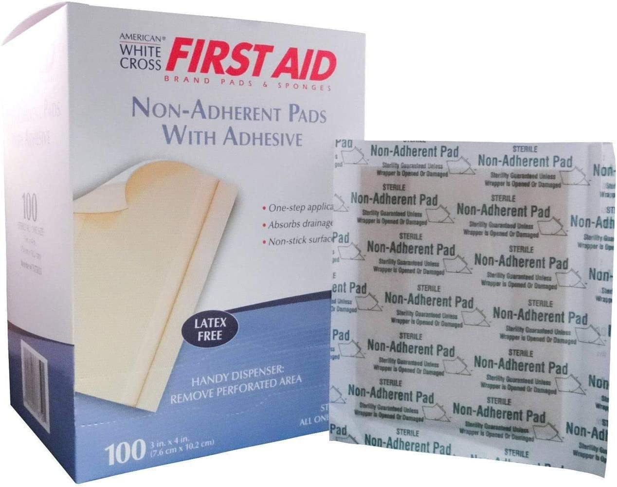 Max 76% OFF First Aid Limited time for free shipping Sterile Non-Adherent Pads with 3 Inch x 4 Strips
