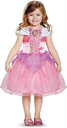 Disguise 82908L Aurora Toddler Classic Costume, Large (4-6x)
