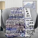 Sinlley to My Boyfriend Throw Blanket 50x40 Inch, Birthday Gift Idea for Boyfriend - Soft Blankets Lightweight Picnic Outdoor Travel