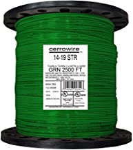 product image for 2,500 ft. 14/19 Stranded THHN Building Electrical Wire Durable Jacketed Green