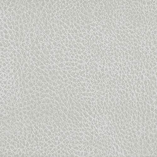 Deshome Argo – Tejido al metro de suave microfibra impermeable altura 140 cm imitación piel para tapicería, sofás y sillas (señal gris, 10 metros)