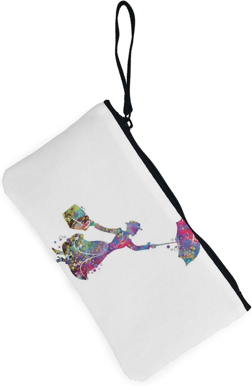 AORRUAM Mary Poppins Canvas Coin Purse,Canvas Zipper Pencil Cases,Canvas Change Purse Pouch Mini Wallet Coin Bag
