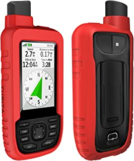 TUSITA Case for Garmin GPSMAP 66s 66st - Silicone Protective Cover - Handheld GPS Accessories (Red)