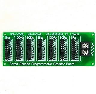 Electronics-Salon 1R - 9999999R Seven Decade Programmable Resistor Board, Step 1R, 1%, 1/2 Watt.