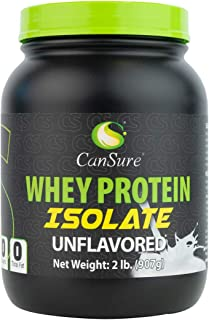 CanSure 100% Whey Protein Isolate Drink Shake Powder (2 Pounds)