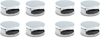 Rannb Glass Edge Grip Mirror Clips Glass Clamps Holder Zinc Alloy Clamps - Pack of 8