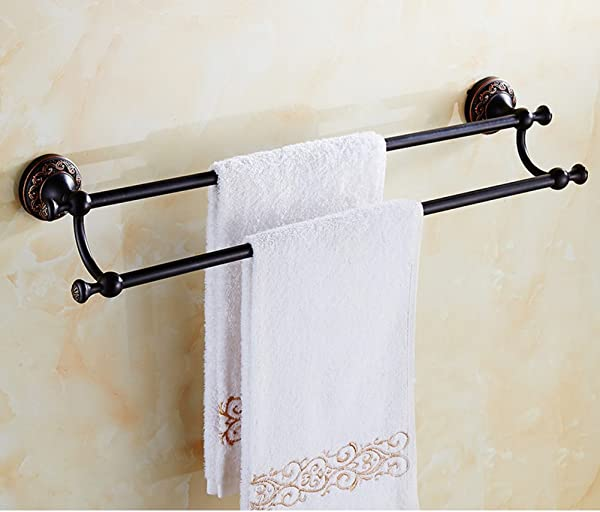 FCOWQKWAZPLS Vintage Towel Bar Hardware Bathroom Accessories Antique Copper Towel Bar Double Towel Rail Single Towel Bar C