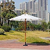 ウッドパラソル 2.7m 風強い UVカット日除け ビーチ 日傘 日よけ (防水 防熱 撥水) 庭 テラス アウトドア ビーチ キャンプ 用品