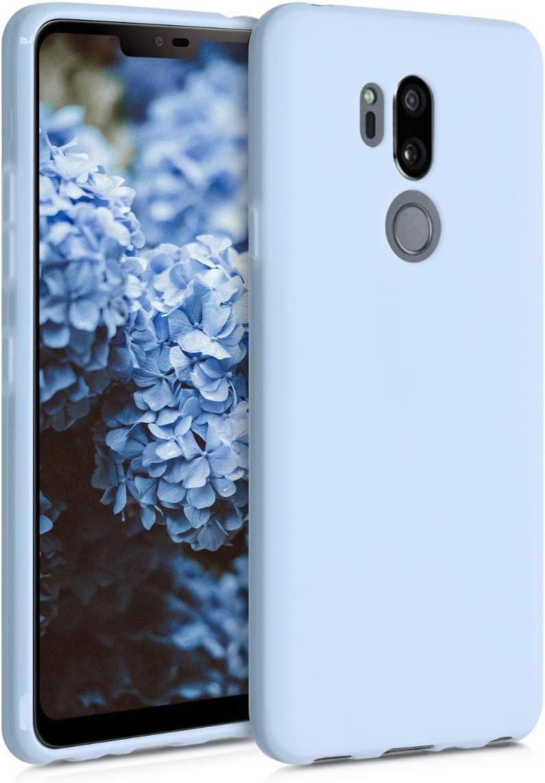 kwmobile Funda Compatible con LG G7 ThinQ//Fit//One Protector Trasero en Azul Oscuro Mate Carcasa de TPU Silicona