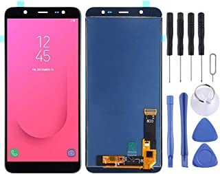 LCD Screen Lcd Screen Replacement LCD Screen and Digitizer Full Assembly (TFT Material) for Galaxy J8, J810F/DS, J810Y/DS, J810G/DS(Black) (Color : Black)