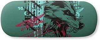 Graffiti Street Wolf Illustration Pattern Gl Case Eyegl Hard Shell Storage Spectacle Box