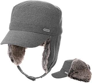 Fancet Mens Womens Adjustable Strapback Army Military Radar Winter Hat Baseball Cadet Cap 56-64cm