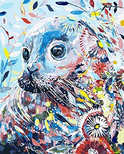 GAGALAM Kinder Malen Nach Zahlen Farbige Dichtungen des Ölgemäldes Kunst Wohnzimmer Schlafzimmer Wanddekoration Malerei,60X75Cm