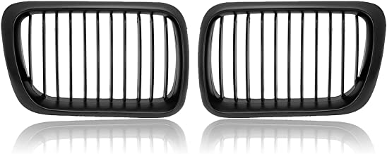 Black Euro Sport Wide Front Kidney Grille Grill For 1997 1998 1999 E36 318i 318is 323i 323is 325i 325is 328i 328is Facelift