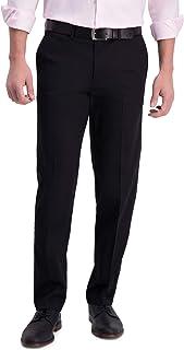 Haggar mens Iron Free Khaki Straight Fit Flat Flex Waistband Casual Pant Pants