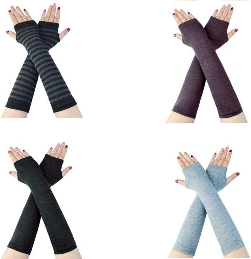 Ladies Winter Arm Heater Cashmere Fingerless Long Gloves Gloves Keep Warm And Strong